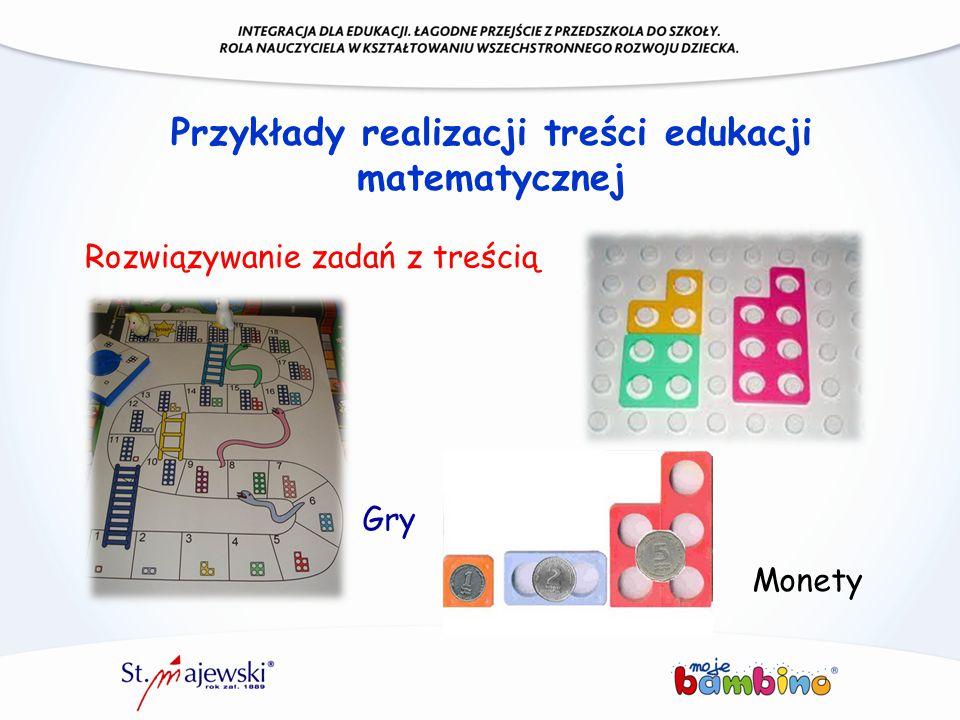 Przykłady realizacji treści edukacji matematycznej Rozwiązywanie zadań z treścią Gry Monety