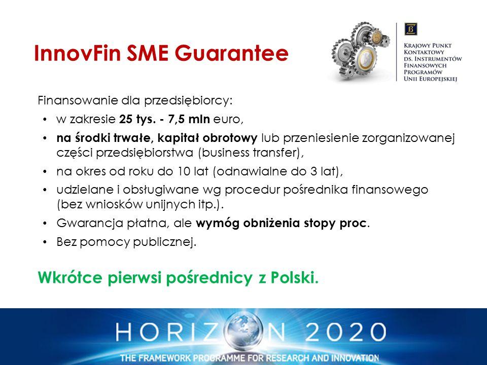 Finansowanie dla przedsiębiorcy: w zakresie 25 tys. - 7,5 mln euro, na środki trwałe, kapitał obrotowy lub przeniesienie zorganizowanej części przedsi