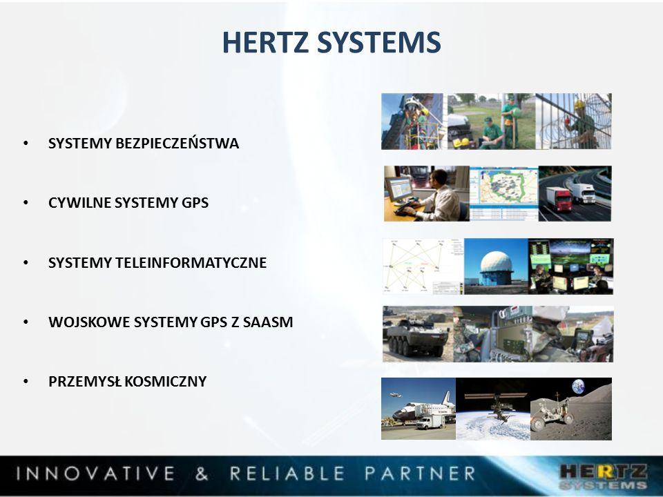 HERTZ SYSTEMS SYSTEMY BEZPIECZEŃSTWA CYWILNE SYSTEMY GPS SYSTEMY TELEINFORMATYCZNE WOJSKOWE SYSTEMY GPS Z SAASM PRZEMYSŁ KOSMICZNY