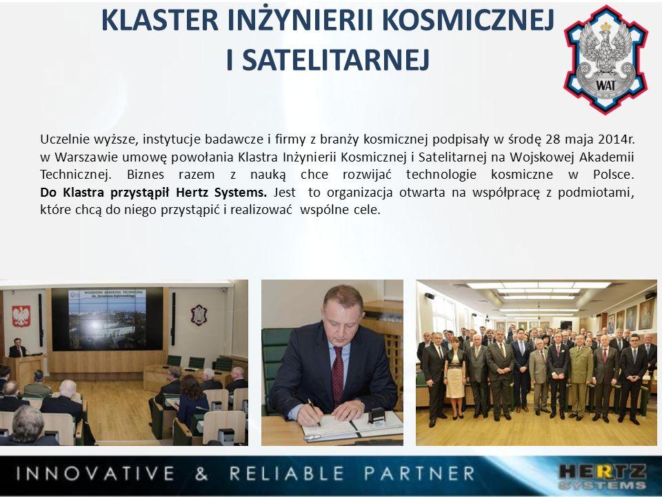 KLASTER INŻYNIERII KOSMICZNEJ I SATELITARNEJ Uczelnie wyższe, instytucje badawcze i firmy z branży kosmicznej podpisały w środę 28 maja 2014r.