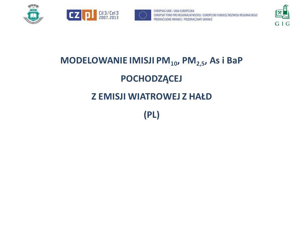 WYNIKI MODELOWANIA Rozkładów przestrzennych maksymalnych średnich godzinowych PM 10 dla hałdy ČSM dla kolejnych miesięcy 2013 r.