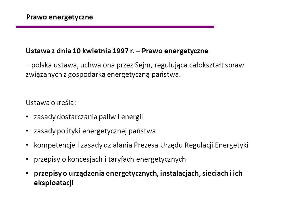 Ustawa z dnia 10 kwietnia 1997 r. – Prawo energetyczne – polska ustawa, uchwalona przez Sejm, regulująca całokształt spraw związanych z gospodarką ene