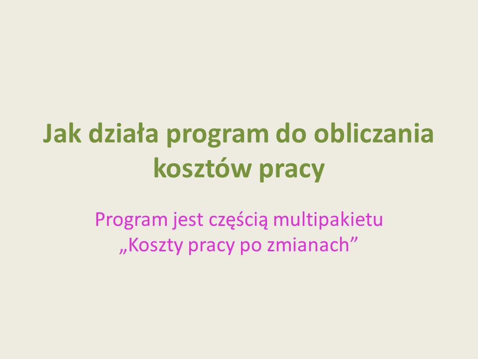 Uruchomienie programu Pracę z programem rozpoczynamy włączeniem MAKRO – przycisk Włącz tę zawartość.