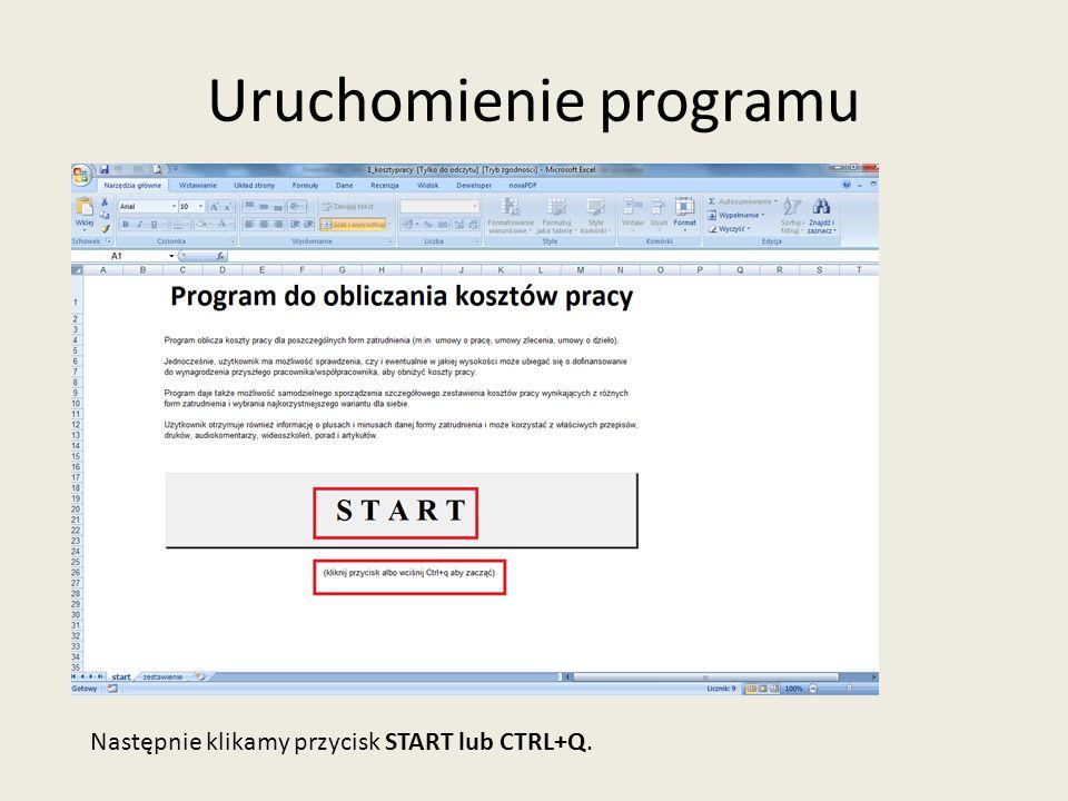 Praca w programie-edycja lub usunięcie kandydata Po otwarciu, program pokazuje testową osobę, którą można edytować lub usunąć.