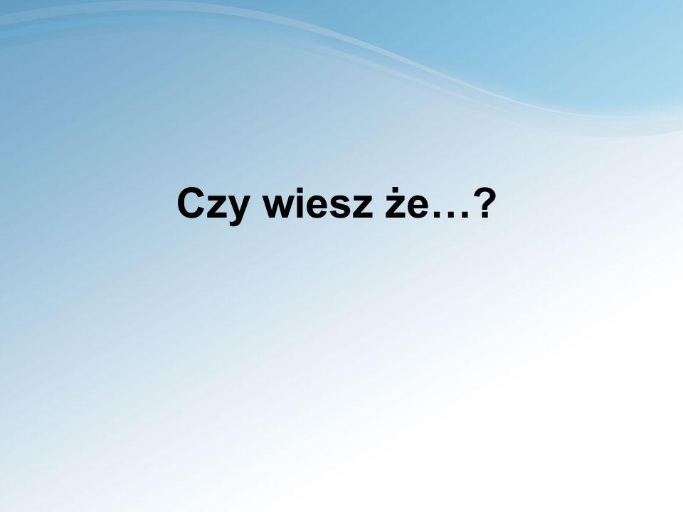 Czy wiesz że…?