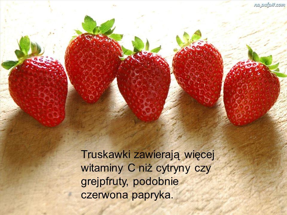Truskawki zawierają więcej witaminy C niż cytryny czy grejpfruty, podobnie czerwona papryka.