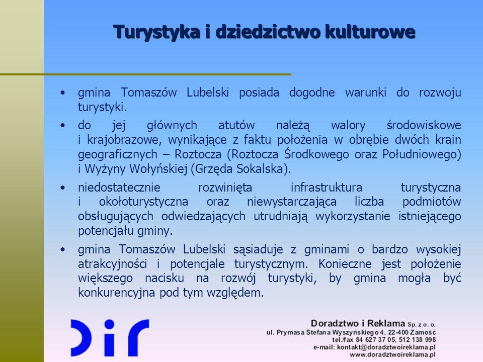 Turystyka i dziedzictwo kulturowe gmina Tomaszów Lubelski posiada dogodne warunki do rozwoju turystyki. do jej głównych atutów należą walory środowisk