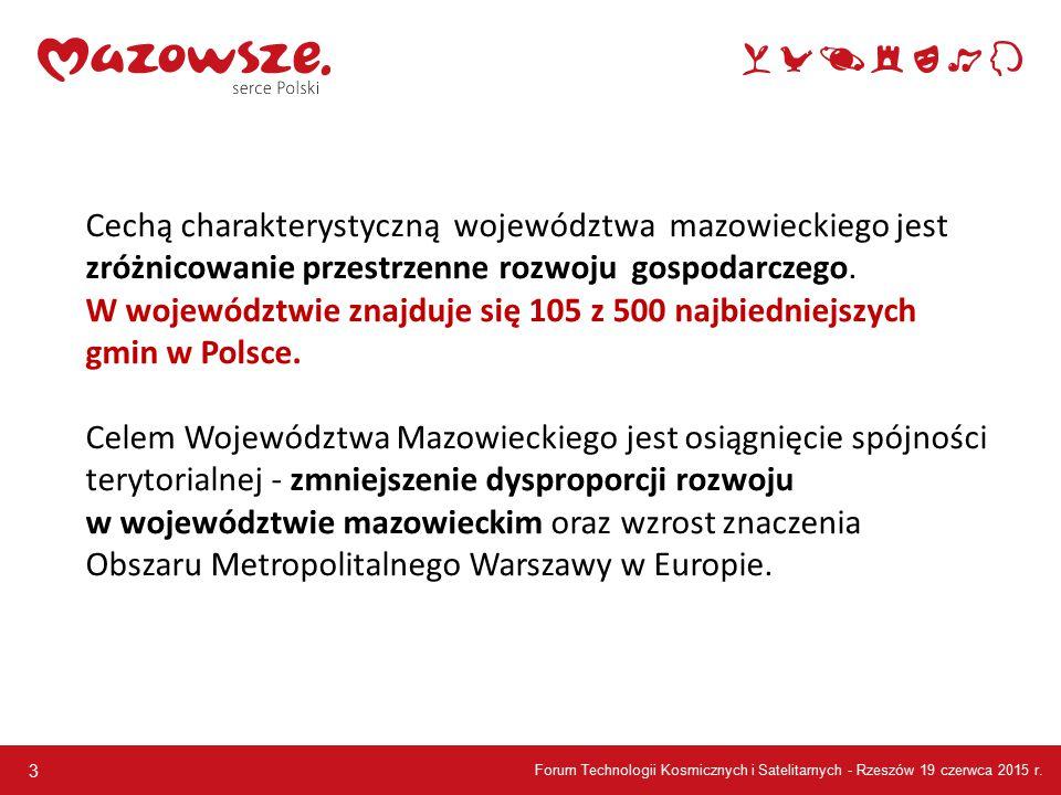 3 Cechą charakterystyczną województwa mazowieckiego jest zróżnicowanie przestrzenne rozwoju gospodarczego.