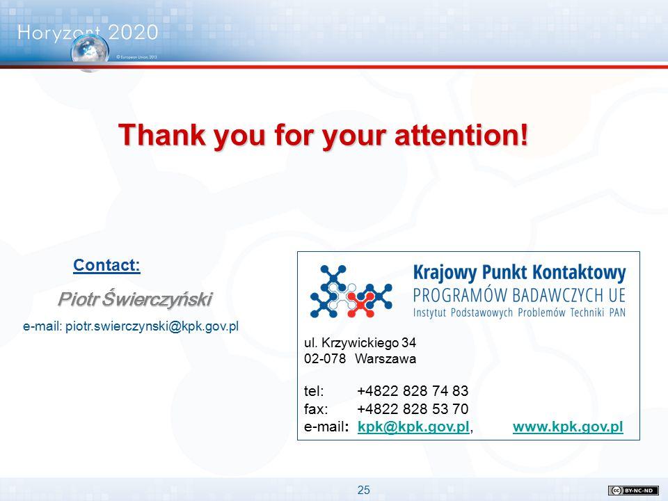 25 ul. Krzywickiego 34 02-078 Warszawa tel: +4822 828 74 83 fax: +4822 828 53 70 e-mail: kpk@kpk.gov.pl, www.kpk.gov.plkpk@kpk.gov.plwww.kpk.gov.pl Pi