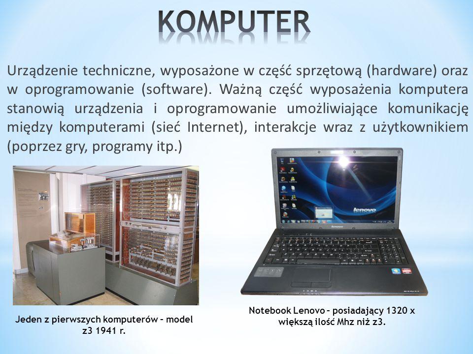 Komputer służy przede wszystkim do komunikacji z innymi użytkownikami, wymienianiem się danymi na różne tematy.