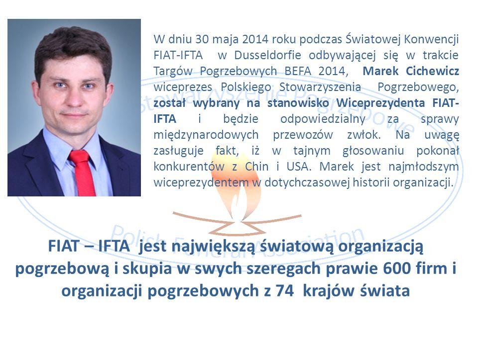 W dniu 30 maja 2014 roku podczas Światowej Konwencji FIAT-IFTA w Dusseldorfie odbywającej się w trakcie Targów Pogrzebowych BEFA 2014, Marek Cichewicz