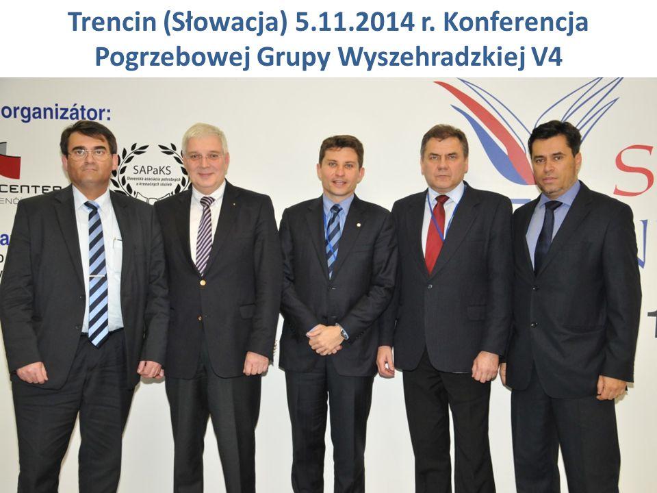 Trencin (Słowacja) 5.11.2014 r. Konferencja Pogrzebowej Grupy Wyszehradzkiej V4