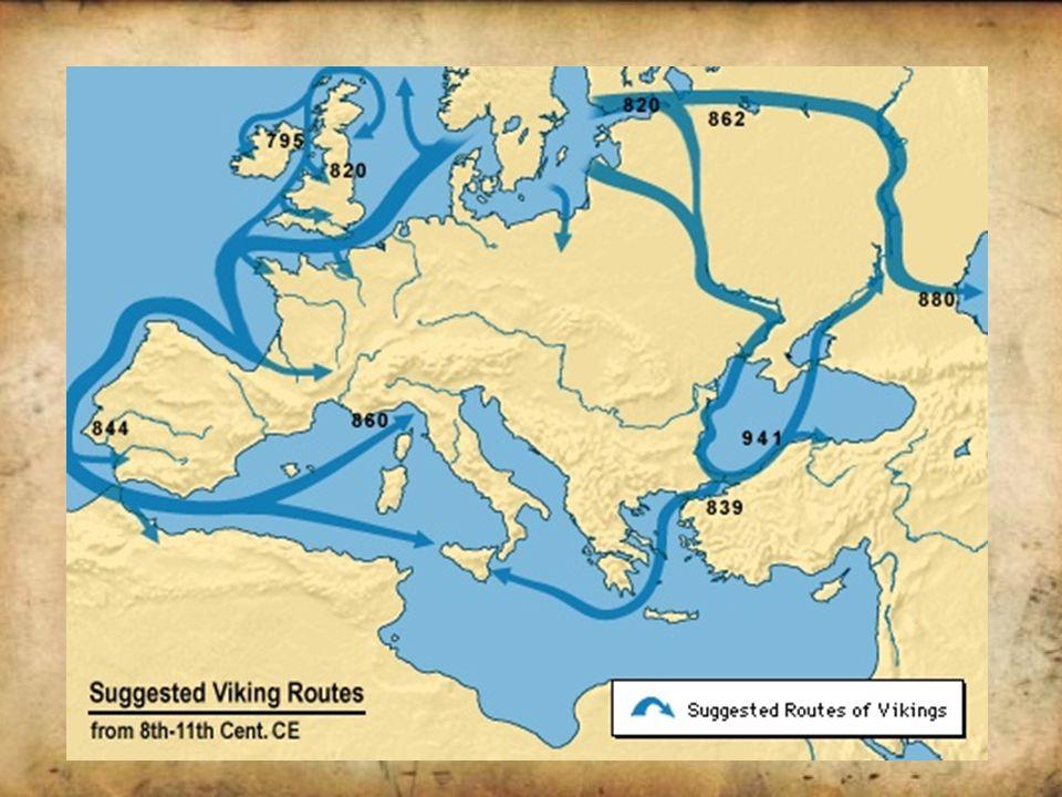 Ekspansje na Zachód Skandynawów zamieszkujących tereny dzisiejszej Norwegii i Danii nazywano Wikingami.