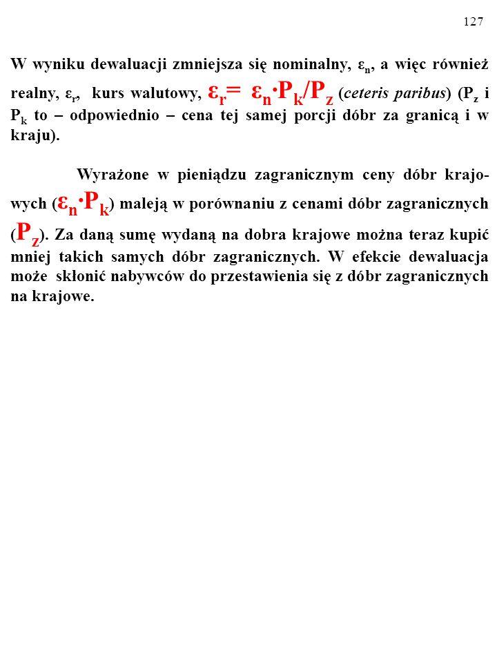126 Alternatywą dla działającego automatycznie KLASYCZNEGO PROCESU DOSTOSOWAWCZEGO jest POLITYKA GOSPO- DARCZA państwa.