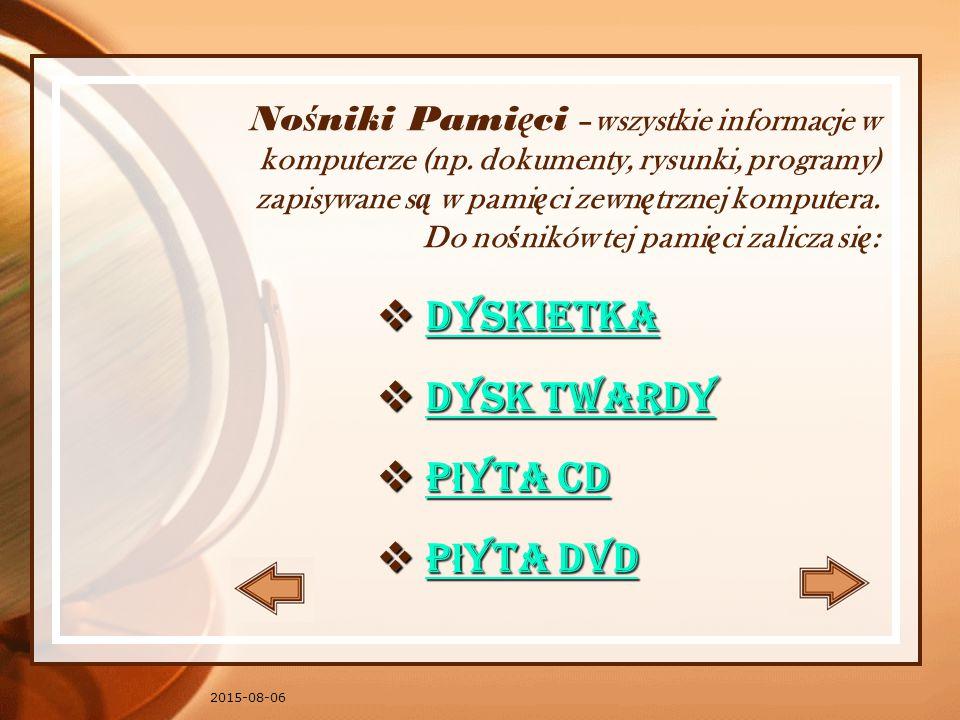 No ś niki Pami ę ci –wszystkie informacje w komputerze (np.
