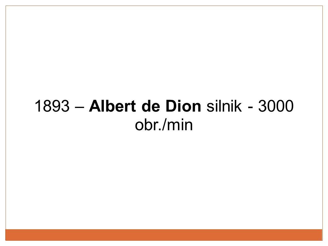 1893 – Albert de Dion silnik - 3000 obr./min