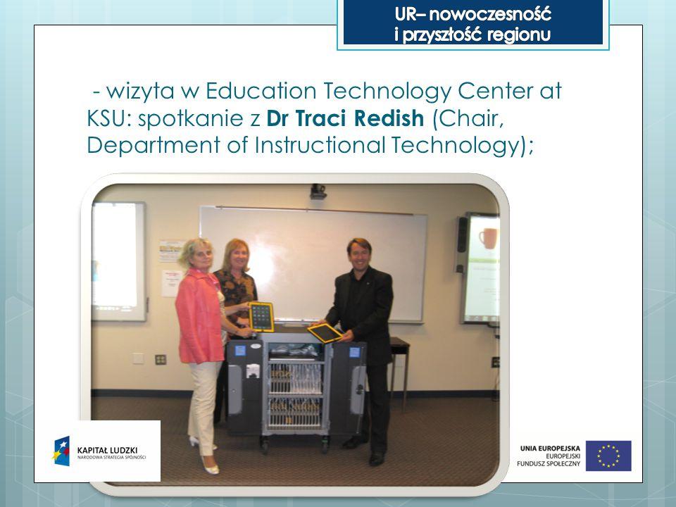- wizyta w Teacher Resource and Activity Center : spotkanie z Dr Maurice Wilson (Director, Education Service Center);