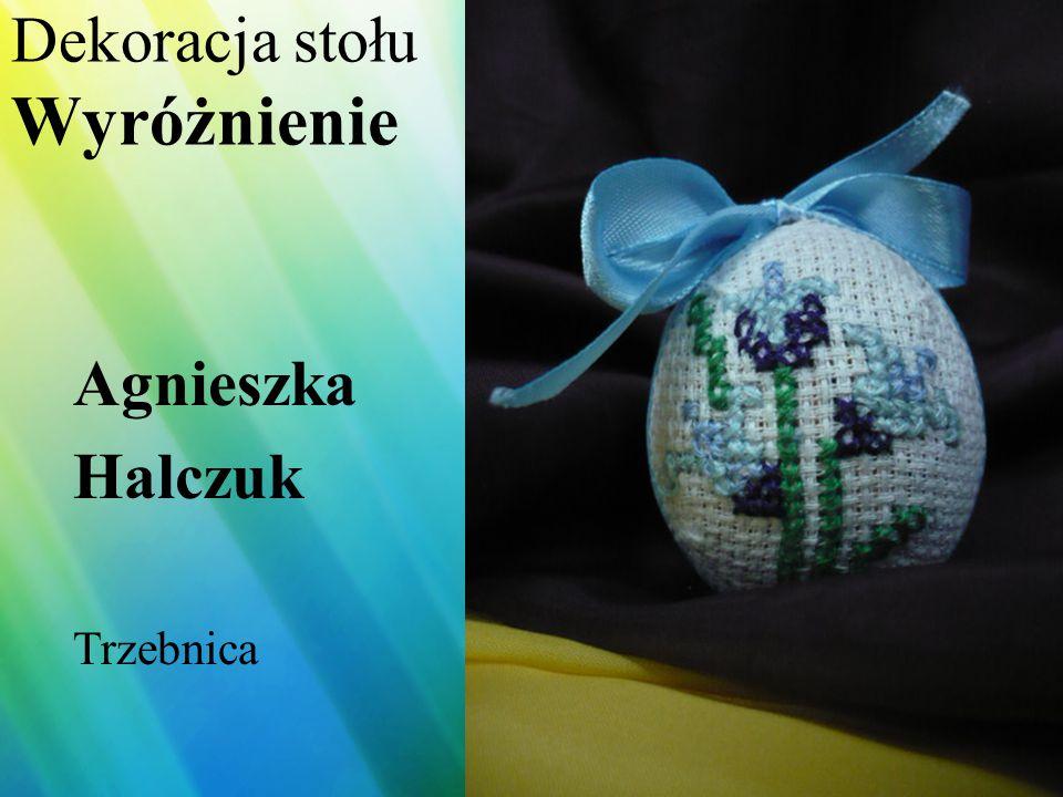 Dekoracja stołu Wyróżnienie Krzysztof Dobosz Wołów