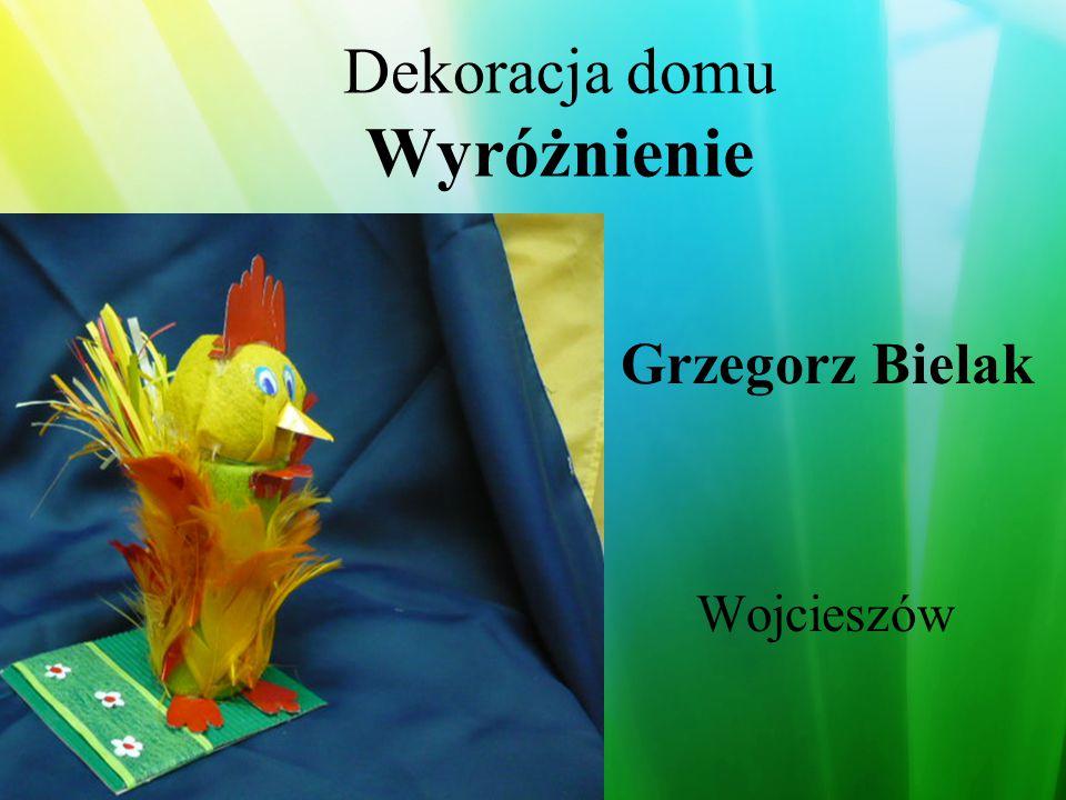 Dekoracja domu Wyróżnienie Andrzelika Stelmachowska Malwina Swat Daria Kecher Milicz