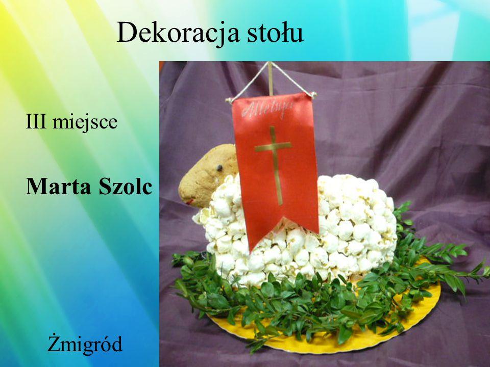 Dekoracja stołu III miejsce Henryk Szatanek Miłków
