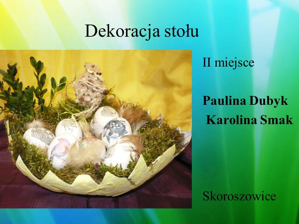 Dekoracja stołu III miejsce Marta Szolc Żmigród