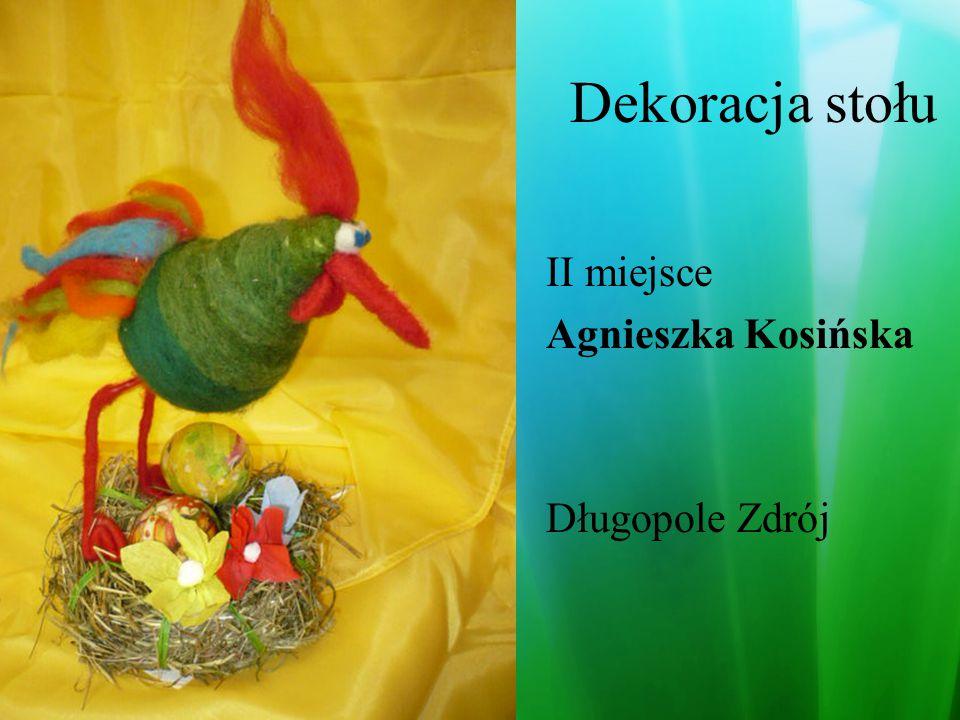 Dekoracja stołu II miejsce Paulina Dubyk Karolina Smak Skoroszowice