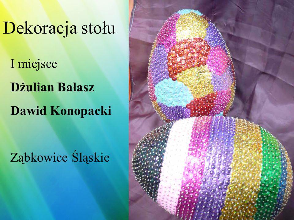 Dekoracja stołu II miejsce Agnieszka Kosińska Długopole Zdrój