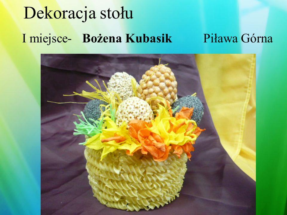 Dekoracja stołu I miejsce Dżulian Bałasz Dawid Konopacki Ząbkowice Śląskie