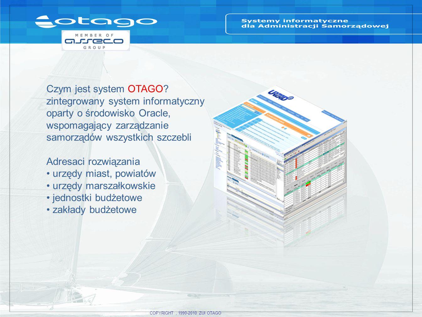 COPYRIGHT, 1990-2010 ZUI OTAGO Czym jest system OTAGO.