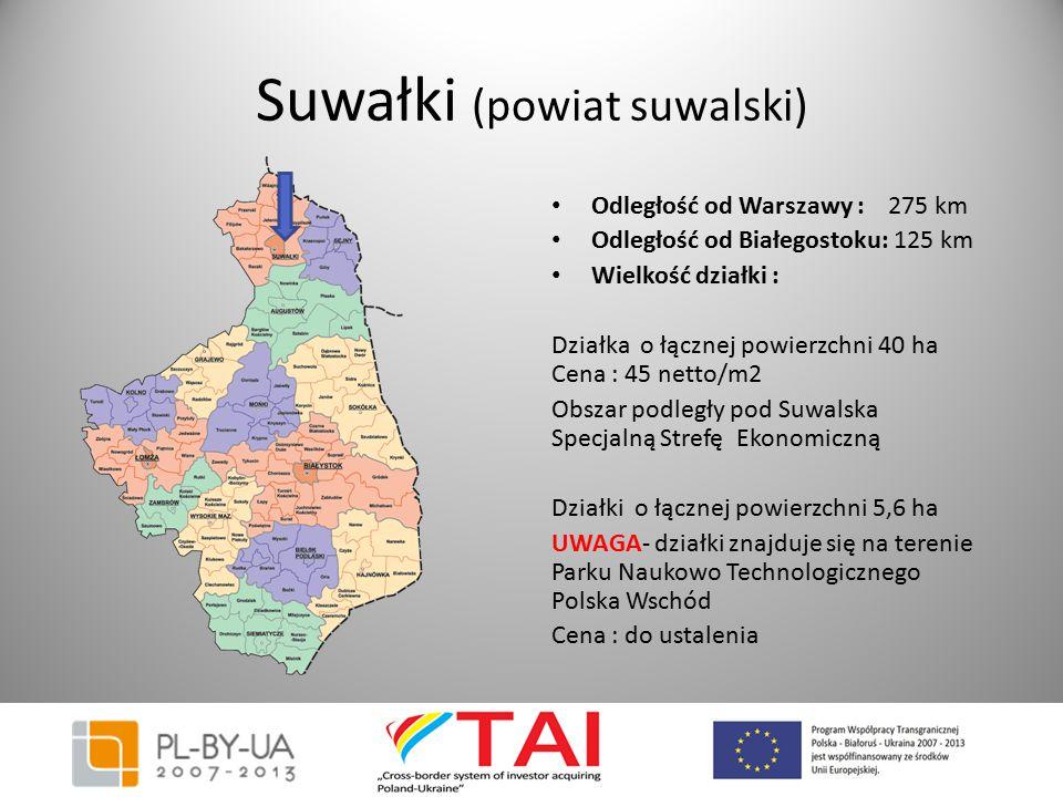 Suwałki (powiat suwalski) Odległość od Warszawy : 275 km Odległość od Białegostoku: 125 km Wielkość działki : Działka o łącznej powierzchni 40 ha Cena