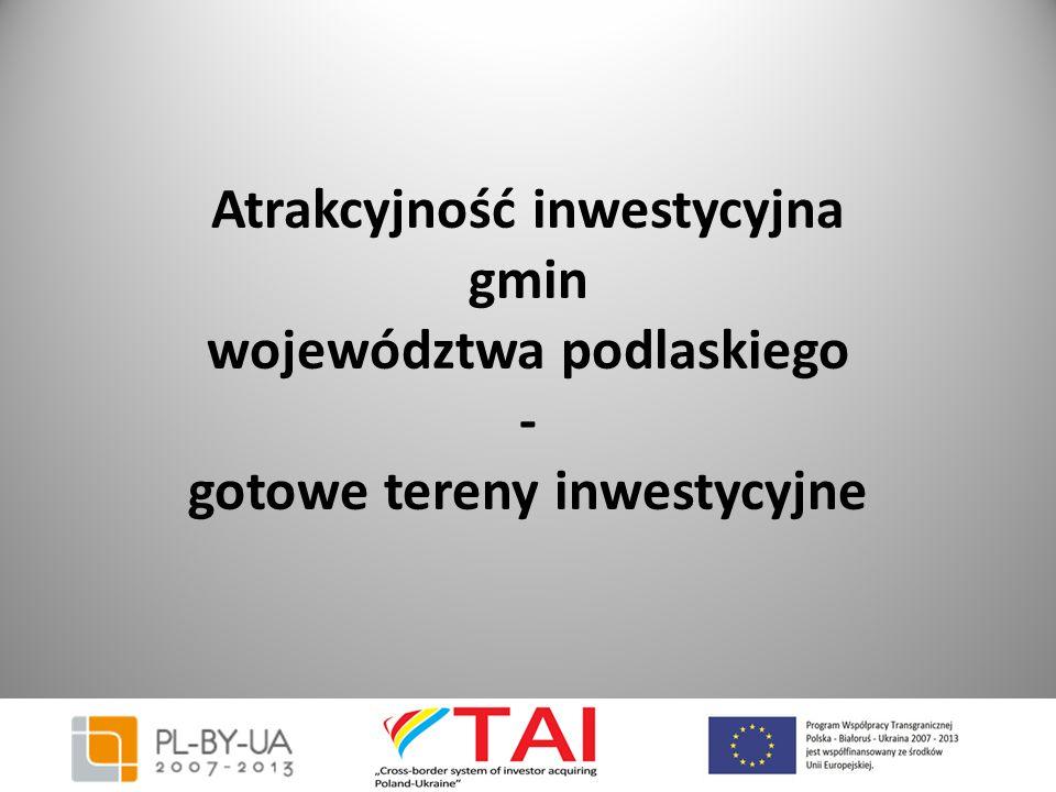 Czarna Białostocka (powiat białostocki) Odległość od Warszawy : 213 km Odległość od Białegostoku: 25 km Wielkość działki : działka 0,6 ha posiada księgę wieczystą możliwość dzierżawy na 20 lat, z prawem pierwszeństwa kupna posiada warunki zagospodarowania pod działalność produkcyjną UWAGA- działka znajduje się na terenie Podlaskiego Parku Przemysłowego - jest to ostatnia nieruchomość z 6 ha terenu Parku (właściciel – Gmina Czarna Białostocka) Cena : do ustalenia na spotkaniu