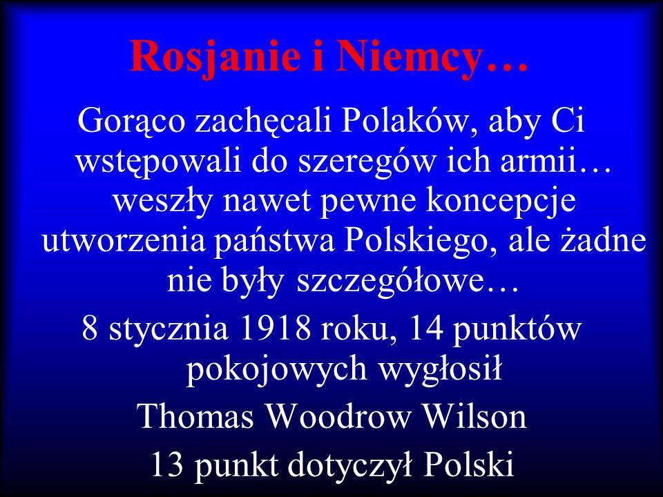 Rosjanie i Niemcy… Gorąco zachęcali Polaków, aby Ci wstępowali do szeregów ich armii… weszły nawet pewne koncepcje utworzenia państwa Polskiego, ale ż