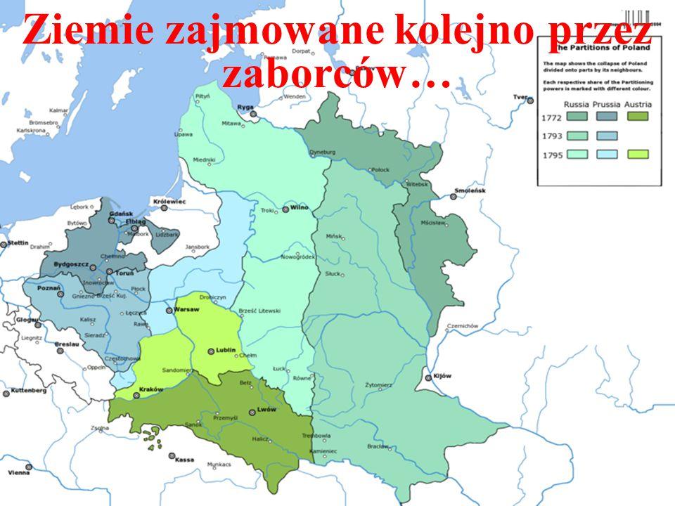 W 1795 zaborcy ostatecznie zajęli terytorium Rzeczpospolitej Trzeci rozbiór był rezultatem m.in.
