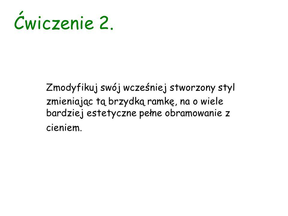 Ćwiczenie 3.