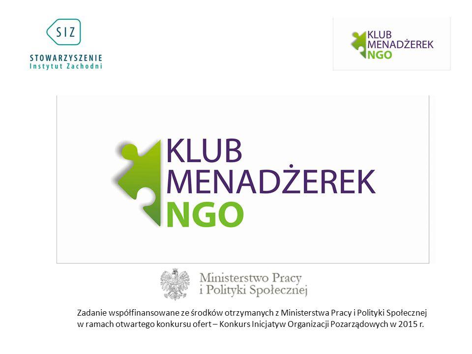 Zadanie współfinansowane ze środków otrzymanych z Ministerstwa Pracy i Polityki Społecznej w ramach otwartego konkursu ofert – Konkurs Inicjatyw Organ
