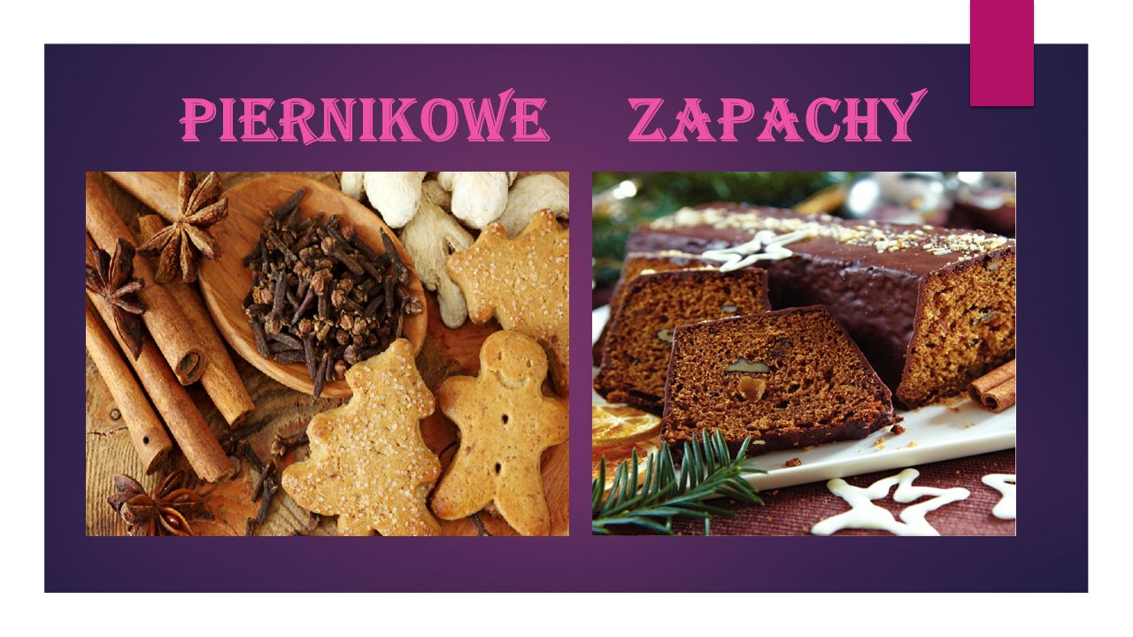 Piernik  Piernik to ciemnobrązowe, twarde lub miękkie (w zależności od rodzaju) ciasto wyrabiane z mieszaniny mąki pszennej i żytniej, mleka, jajek i miodu.