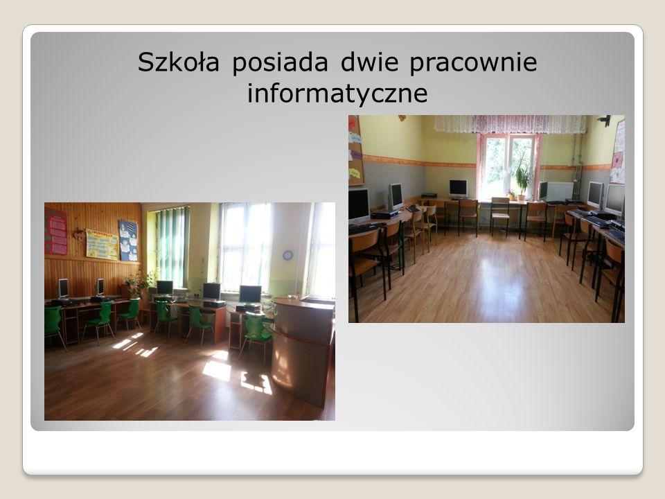 Szkoła posiada dwie pracownie informatyczne