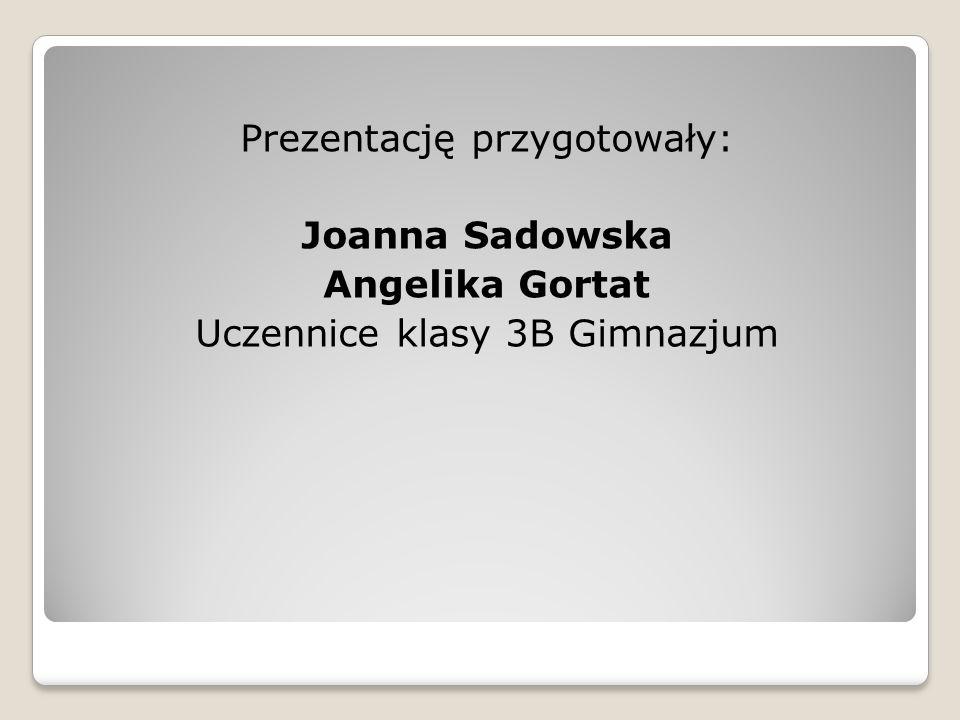 Prezentację przygotowały: Joanna Sadowska Angelika Gortat Uczennice klasy 3B Gimnazjum