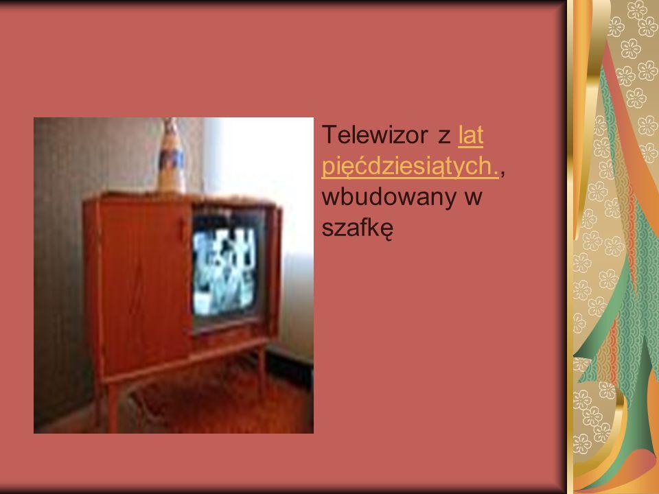 Telewizor z lat pięćdziesiątych., wbudowany w szafkęlat pięćdziesiątych.
