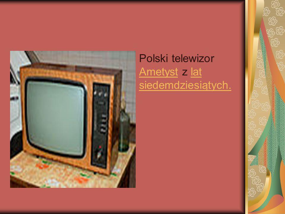 Polski telewizor Ametyst z lat siedemdziesiątych. Ametystlat siedemdziesiątych.