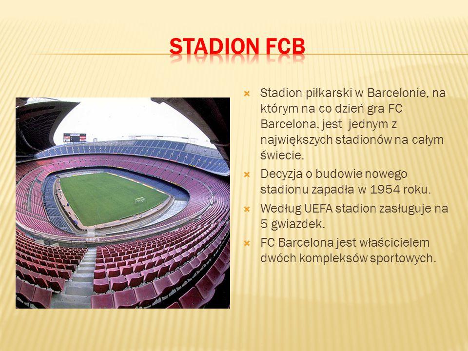  Stadion piłkarski w Barcelonie, na którym na co dzień gra FC Barcelona, jest jednym z największych stadionów na całym świecie.  Decyzja o budowie n