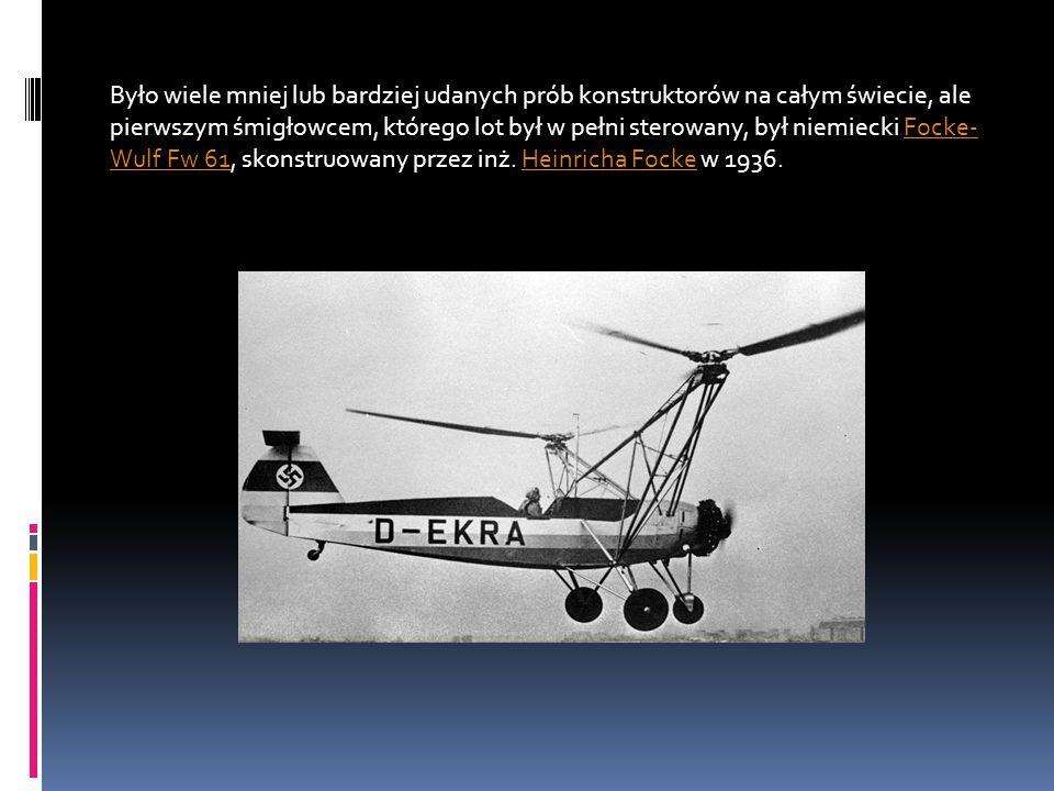 Było wiele mniej lub bardziej udanych prób konstruktorów na całym świecie, ale pierwszym śmigłowcem, którego lot był w pełni sterowany, był niemiecki