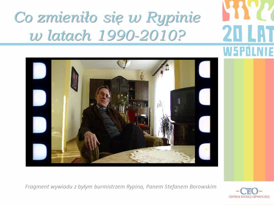 Co zmieniło się w Rypinie w latach 1990-2010.