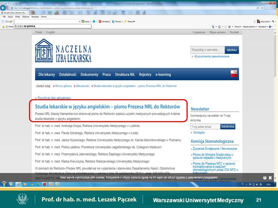 21 Warszawski Uniwersytet Medyczny