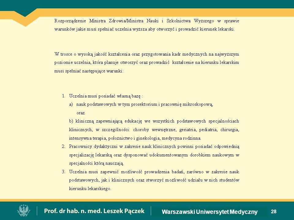 28 Warszawski Uniwersytet Medyczny