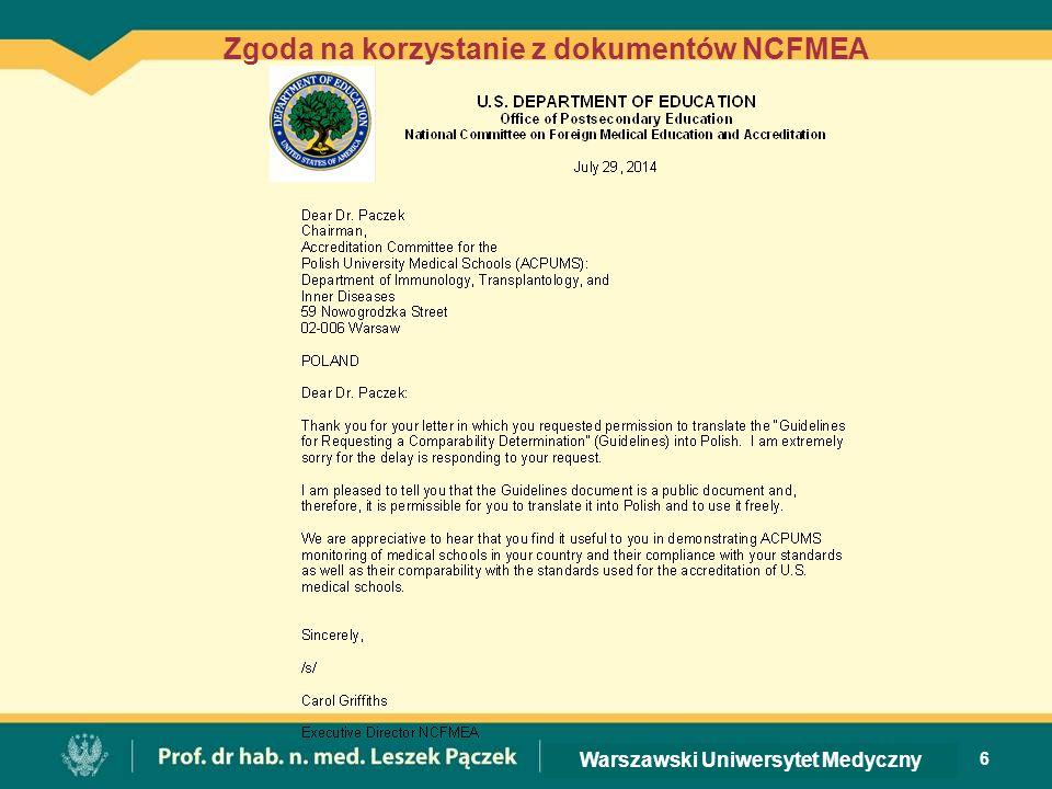 6 Zgoda na korzystanie z dokumentów NCFMEA