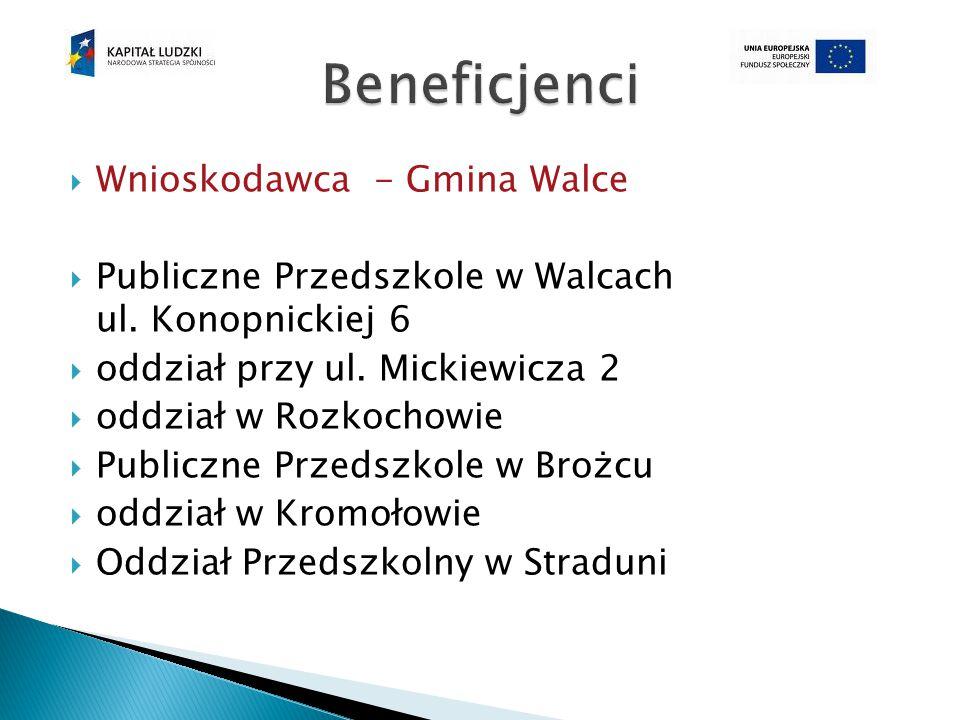  Wnioskodawca - Gmina Walce  Publiczne Przedszkole w Walcach ul.