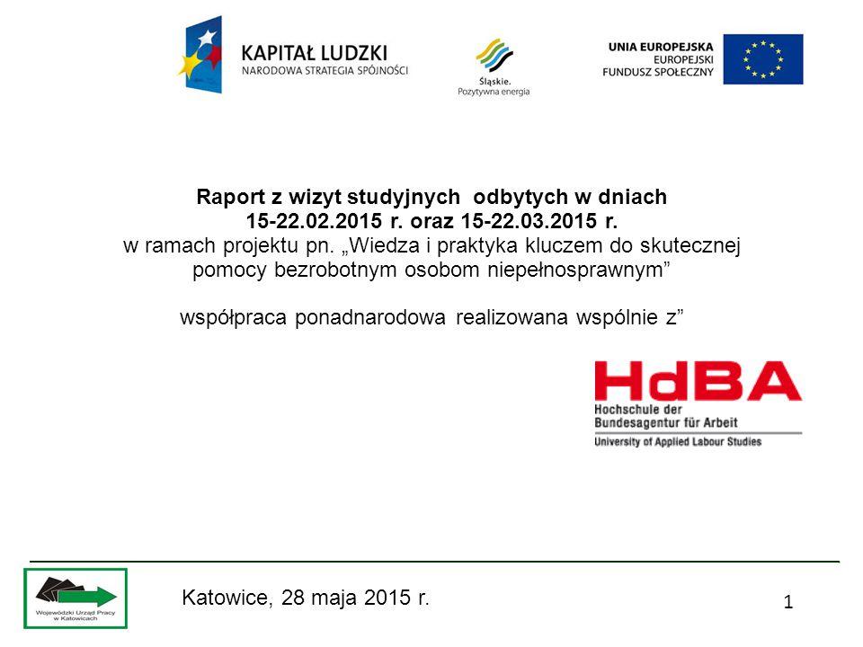 1 Raport z wizyt studyjnych odbytych w dniach 15-22.02.2015 r.