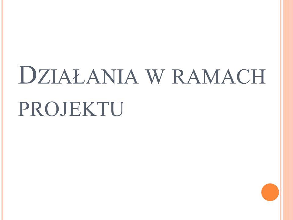 D ZIAŁANIA W RAMACH PROJEKTU