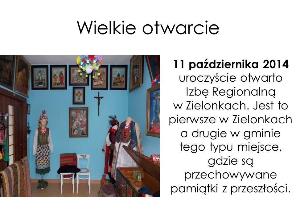 """"""" Ochrona i propagowanie lokalnego dziedzictwa kulturowego poprzez rekonstrukcję ludowych strojów krakowskich, biżuterii oraz eksponatów związanych z życiem codziennym mieszkańców Zielonek ."""